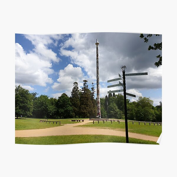 Totem pole vs direction pole at valley gardens Poster