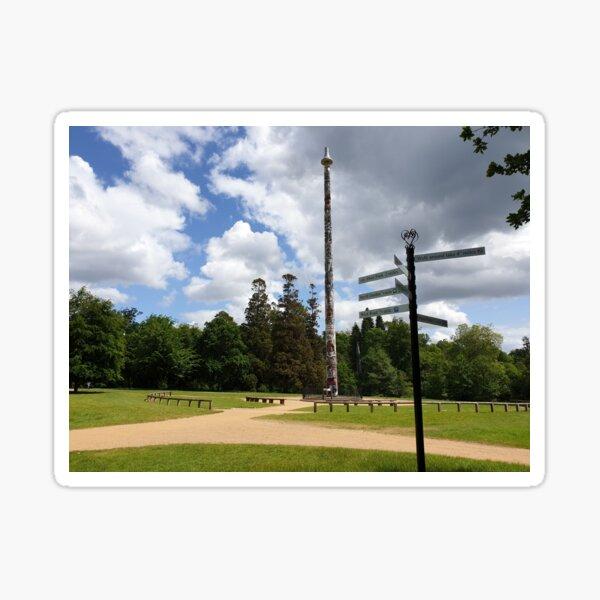 Totem pole vs direction pole at valley gardens Sticker