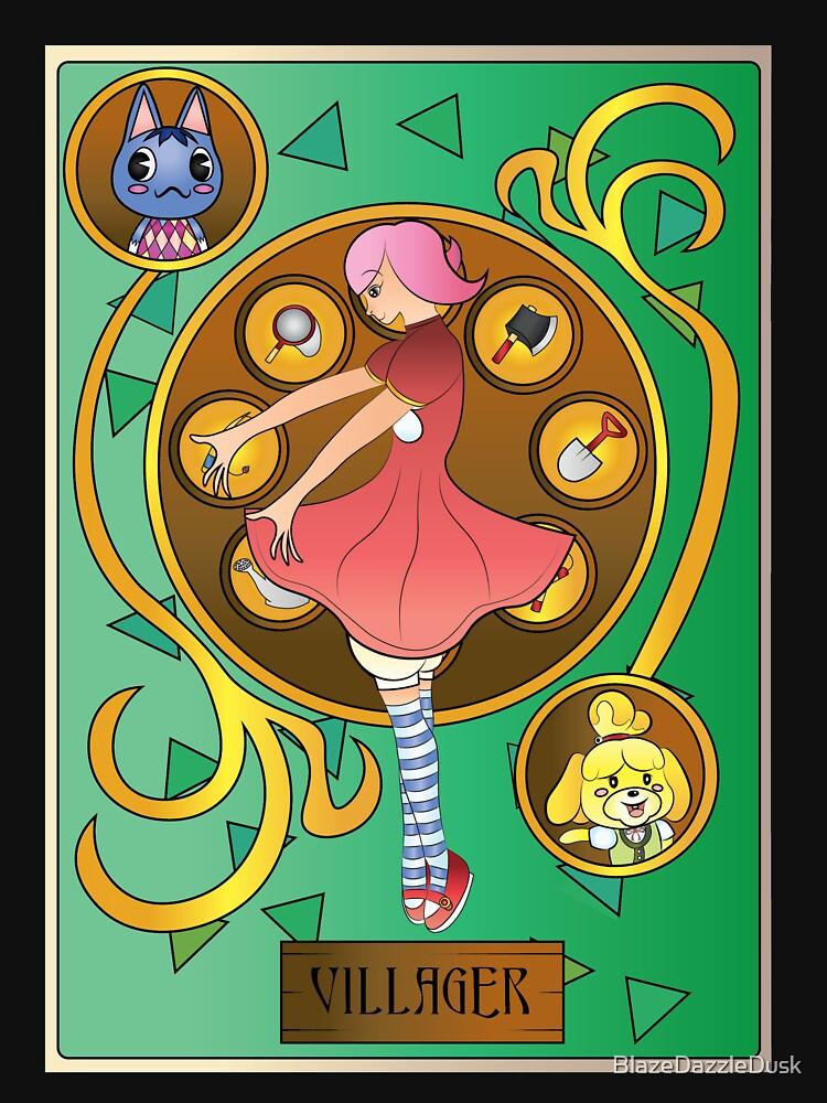Animal Crossing Villager Art Nouveau by BlazeDazzleDusk