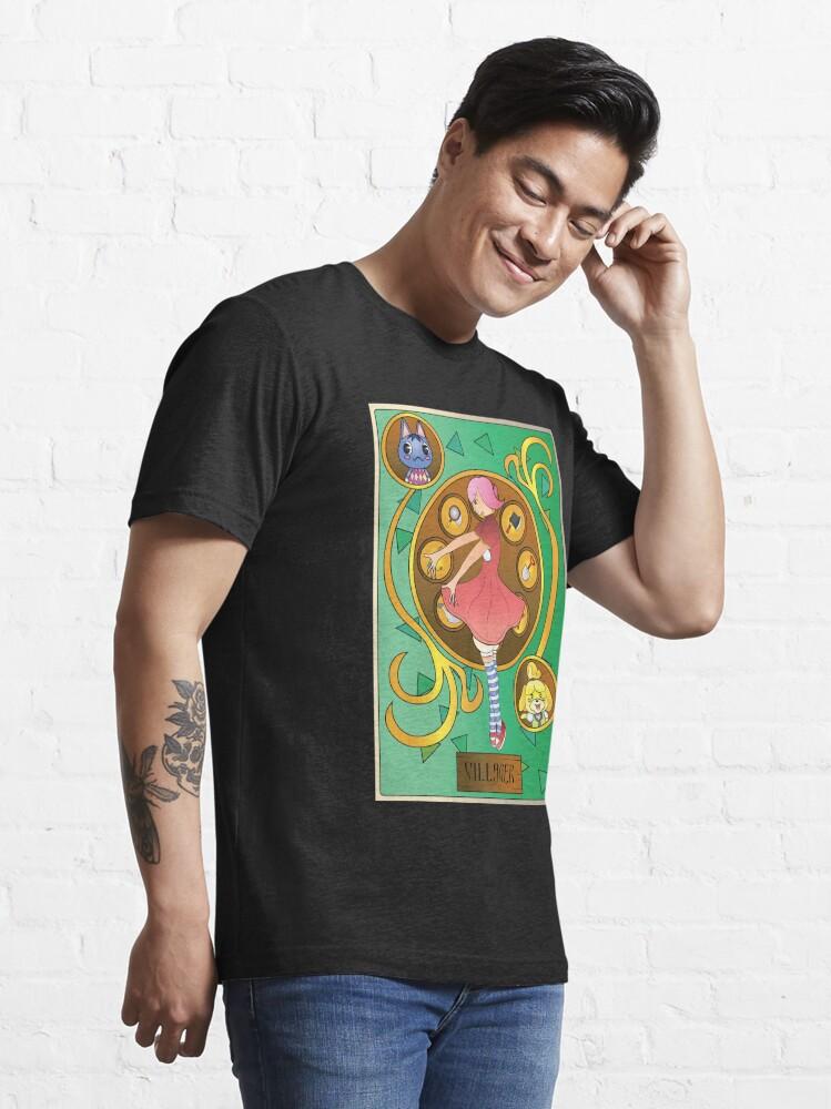 Alternate view of Animal Crossing Villager Art Nouveau Essential T-Shirt