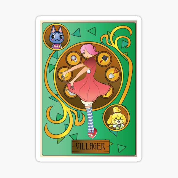 Animal Crossing Villager Art Nouveau Sticker