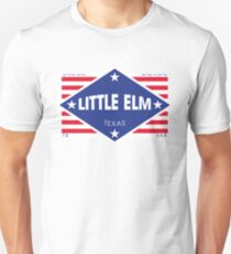 Little Elm, Texas - Diamond Flag Slim Fit T-Shirt