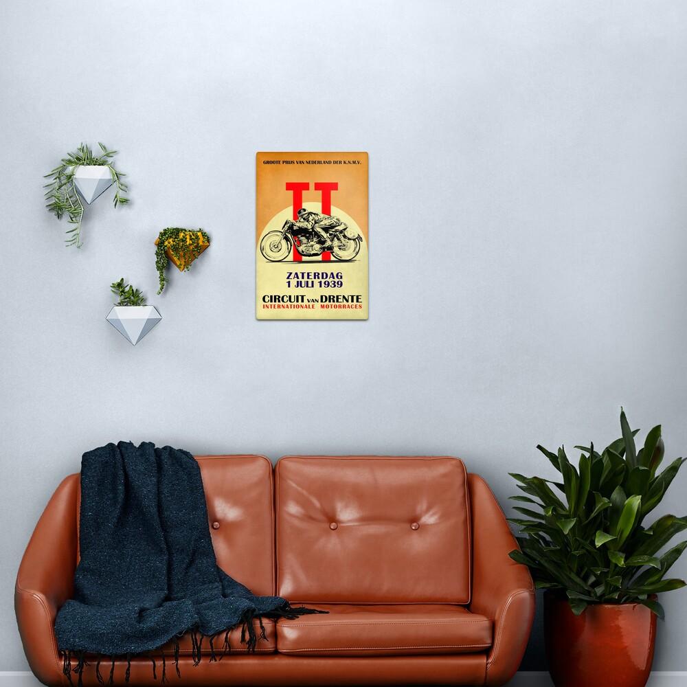 Circuit Van Drente Vintage Motorcycle Racing Poster Metal Print