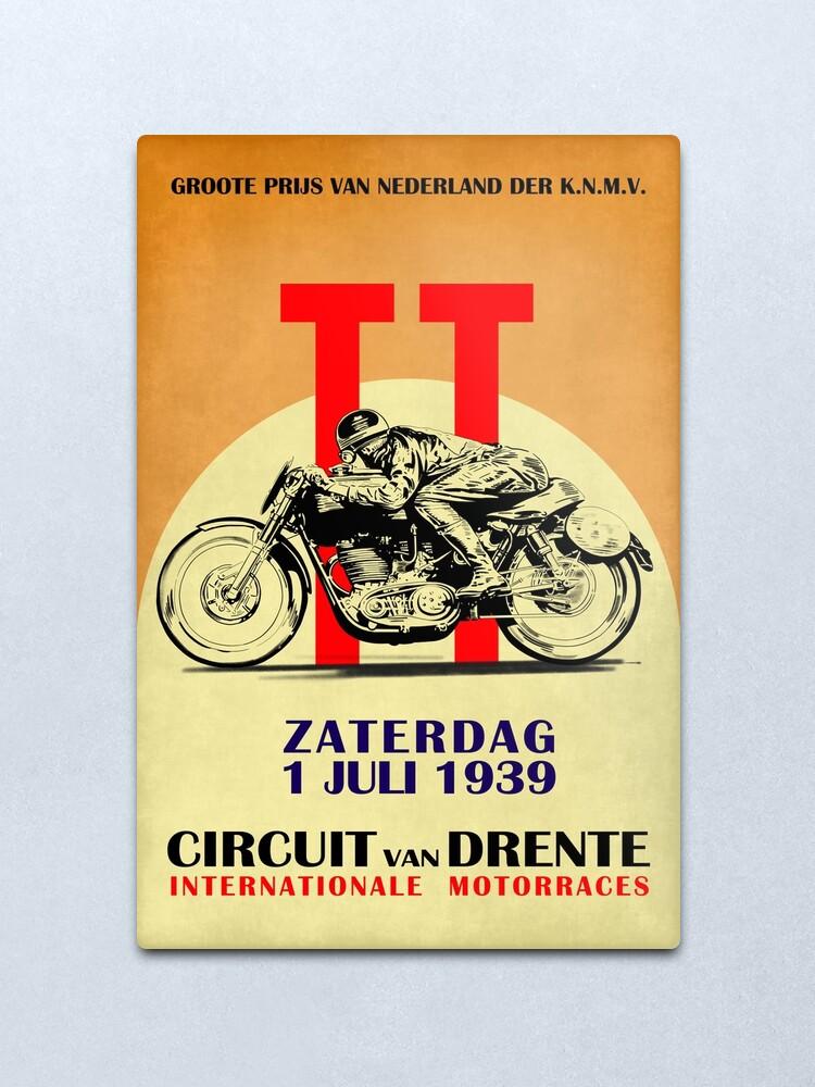 Alternate view of Circuit Van Drente Vintage Motorcycle Racing Poster Metal Print