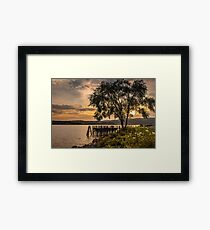 Verplanck Point Sunset  Framed Print