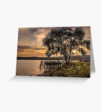Verplanck Point Sunset  Greeting Card