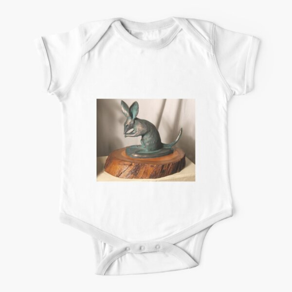 Bilby - sculpture by Avril Thomas Short Sleeve Baby One-Piece