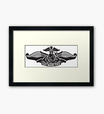 Fleet Marine Force stencil Framed Print