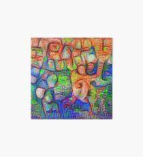 #Deepdreamed abstraction Art Board Print