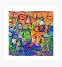#Deepdreamed abstraction Art Print