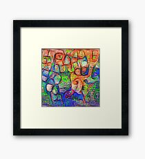 #Deepdreamed abstraction Framed Print