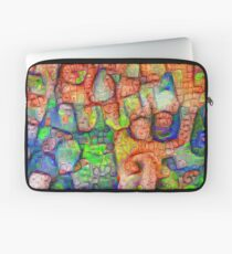 #Deepdreamed abstraction Laptop Sleeve