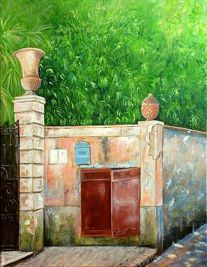 Behind the old wall by Carole Russell