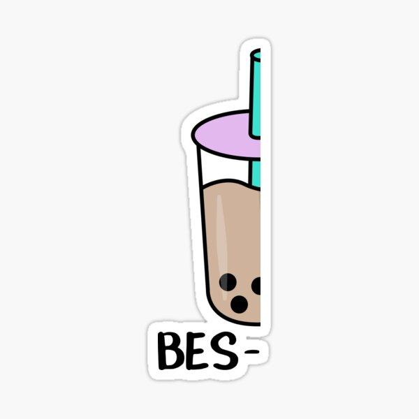Bubble Tea Besties Best Friends Sticker