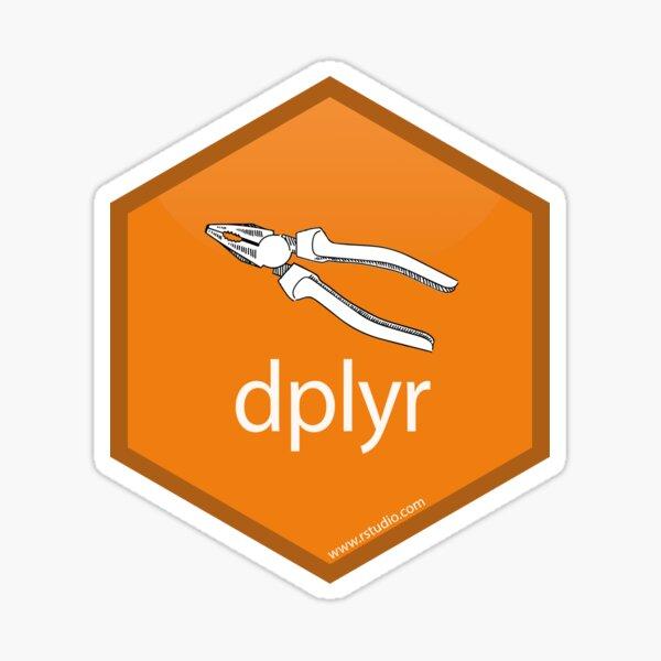 R rstudio dplyr hex Sticker