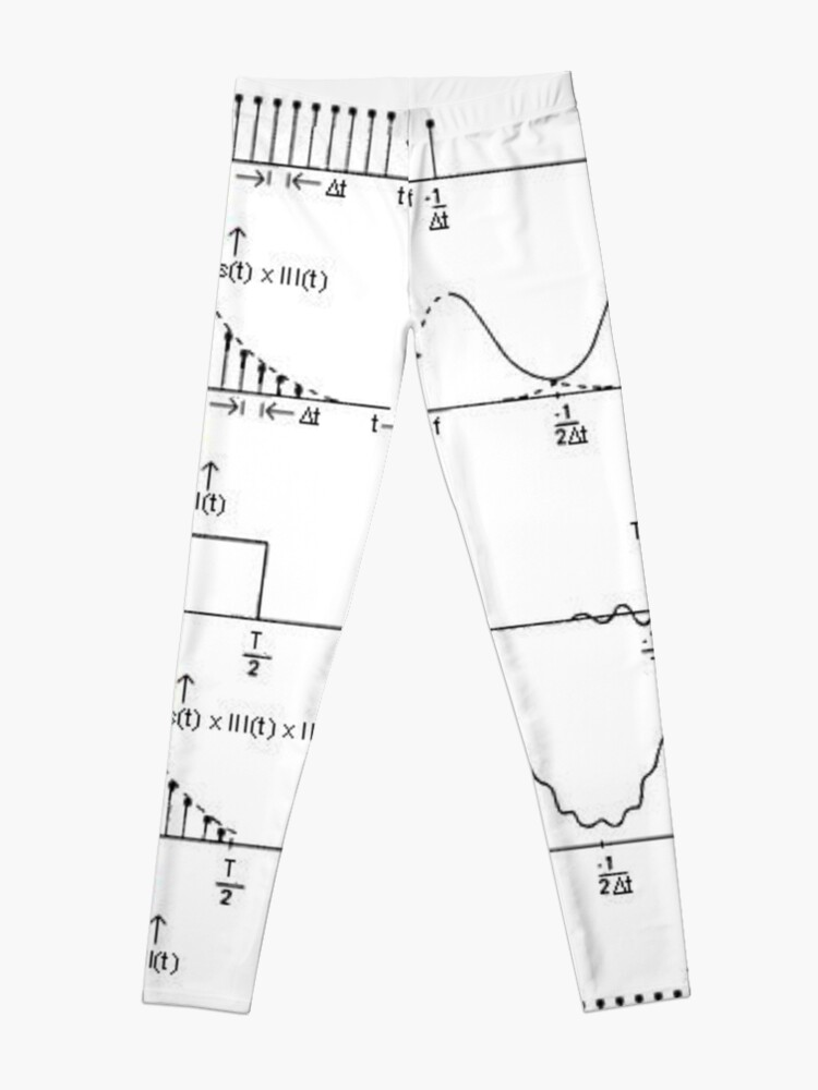 Alternate view of #Discrete #Fourier #Transform. #Diagram, graph, formula, chalk out, illustration, physics, graph plot, symbol, guidance, draft, sketch, science, research, scientific experiment Leggings