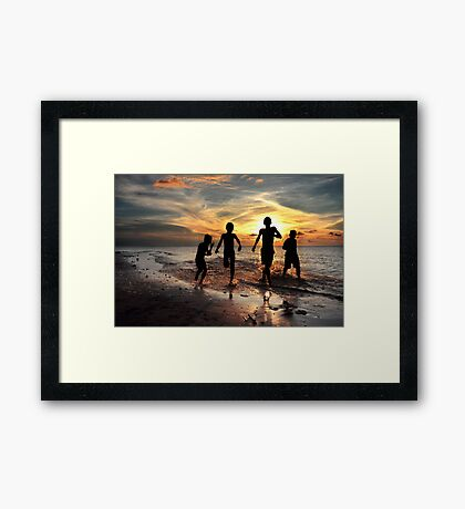 Feel Free #3 - Togetherness and friendship Framed Print