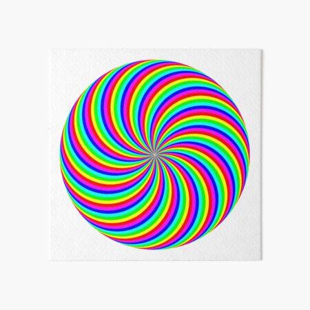 #Rainbow, #abstract, #illustration, #design, art, vortex, psychedelic, pattern, creativity, bright Art Board Print