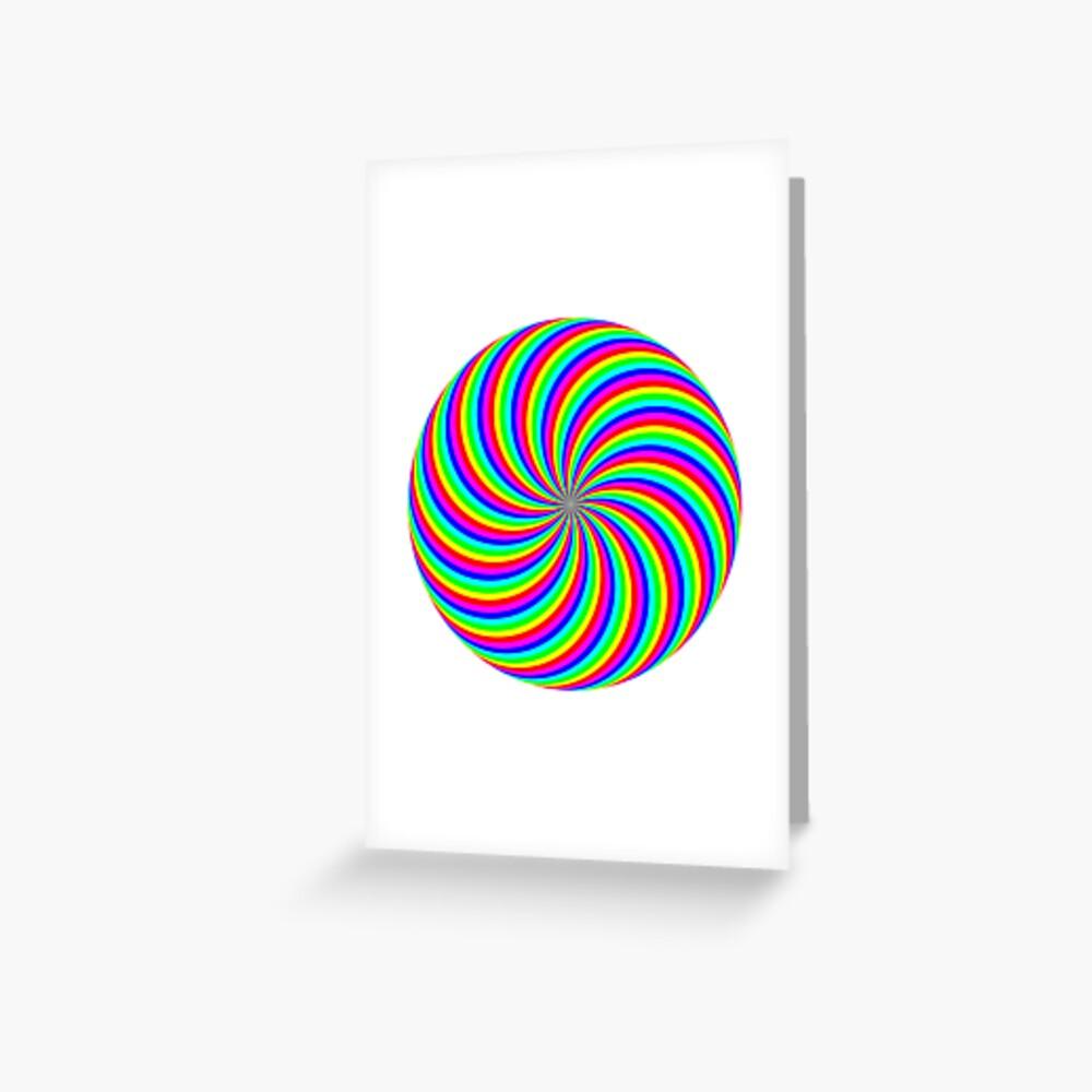 #Rainbow, #abstract, #illustration, #design, art, vortex, psychedelic, pattern, creativity, bright Greeting Card