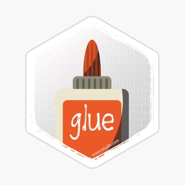 R rstudio glue hex Sticker