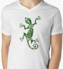 Lizard Tattoo -textured Mens V-Neck T-Shirt