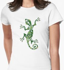 Lizard Tattoo -textured Women's Fitted T-Shirt