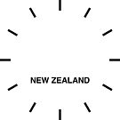 New Zealand Time Zone Newsroom Wanduhr von bluehugo