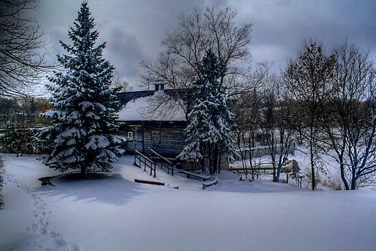 Grant's Old Mill (Winter View) by Larry Trupp