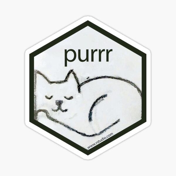 R purr hex Sticker