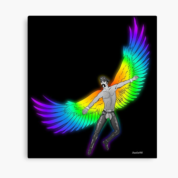 Pride Eagle Leatherman Canvas Print