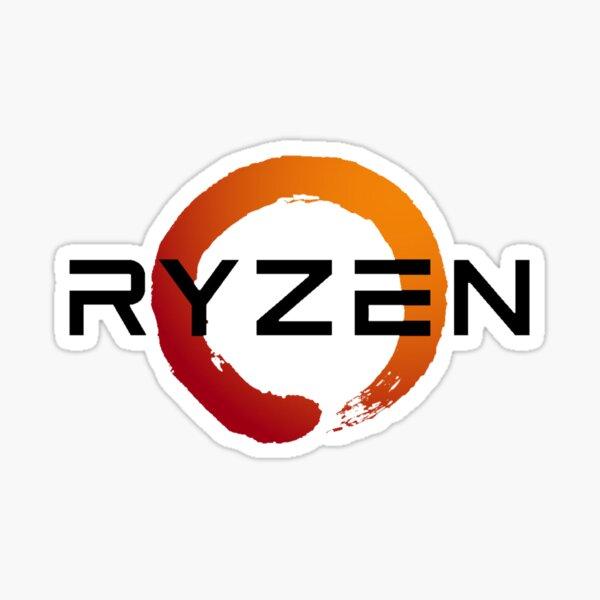 Ryzen 3 logo in black Sticker