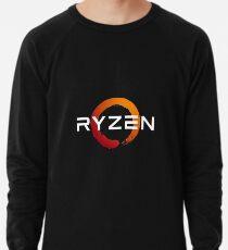Ryzen 3 logo - done in white for darker backgrounds Lightweight Sweatshirt