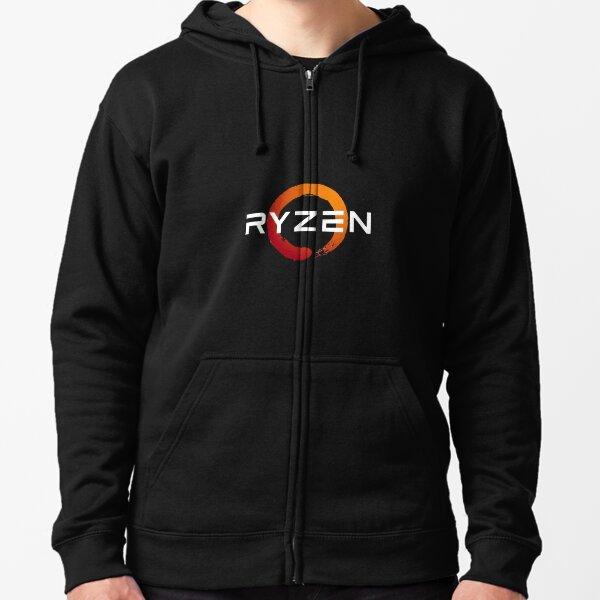 Ryzen 3 logo - done in white for darker backgrounds Zipped Hoodie