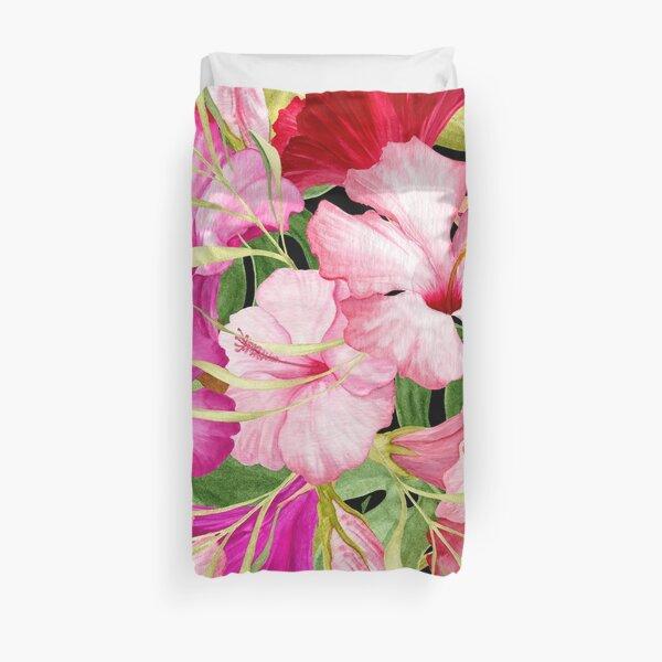 Tropical Power Flowers Duvet Cover