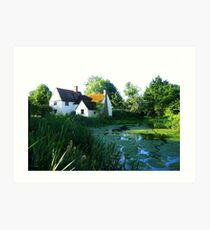 Willie Lott's Cottage - in England's Constable Country Art Print