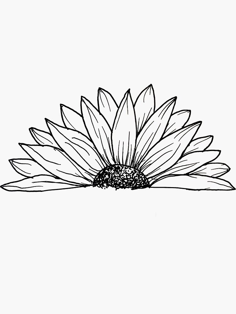 Black and White Daisy Doodle by Jone0331