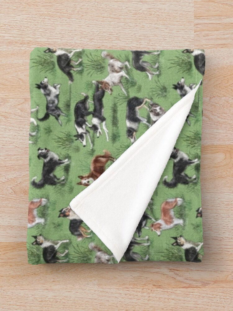 Alternate view of The Border Collie Throw Blanket