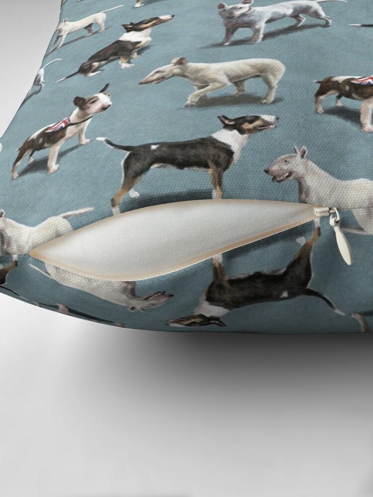 Alternate view of The Bull Terrier Throw Pillow