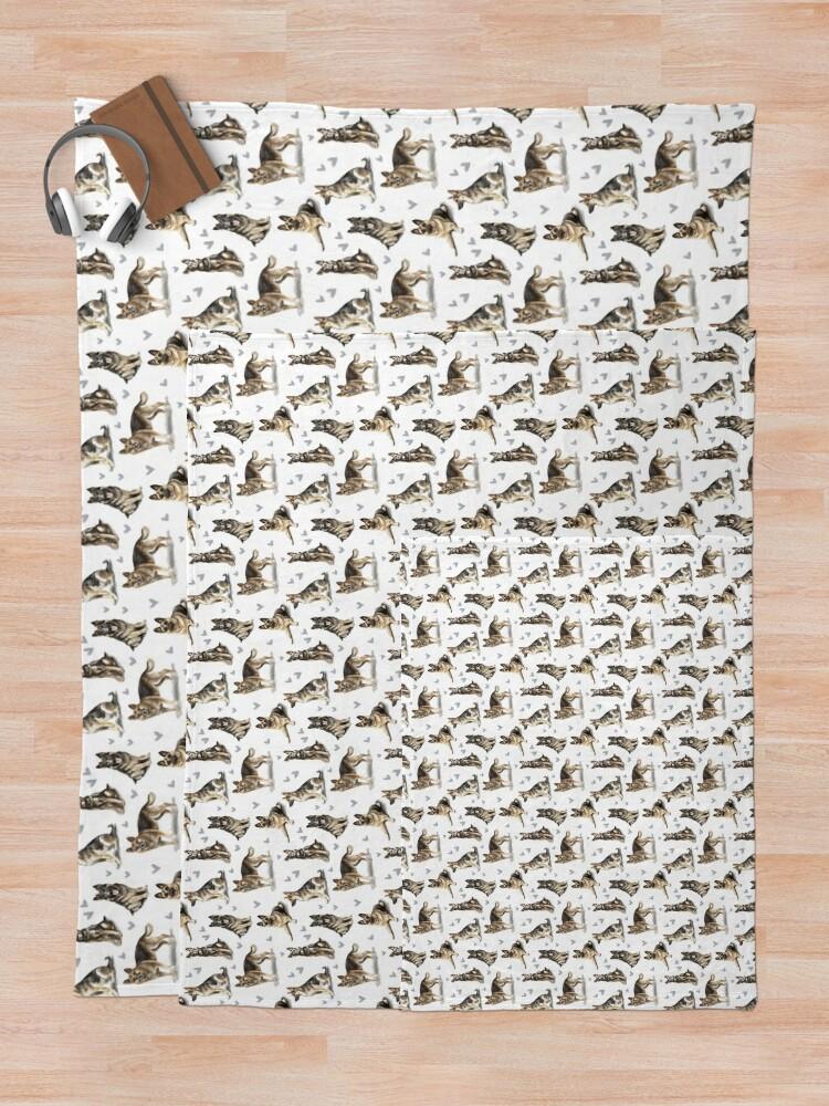 Alternate view of German Shepherd Dog Throw Blanket