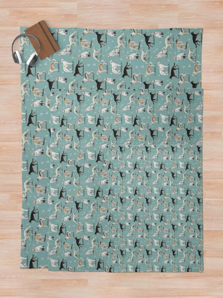 Alternate view of The Borzoi Throw Blanket