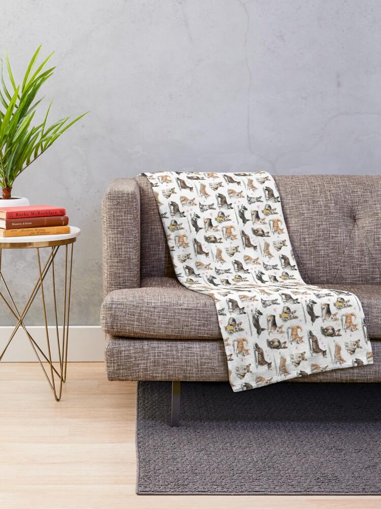 Alternate view of Corgi Throw Blanket