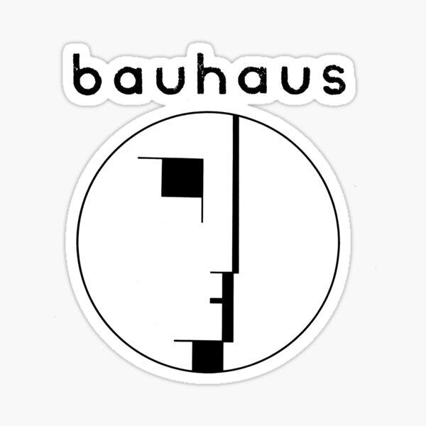 Bauhaus post punk 80s retro black version Sticker