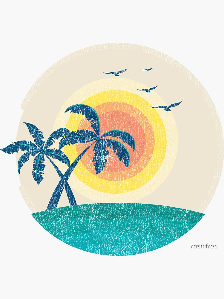 Beach Palm Trees Sticker by roamfree