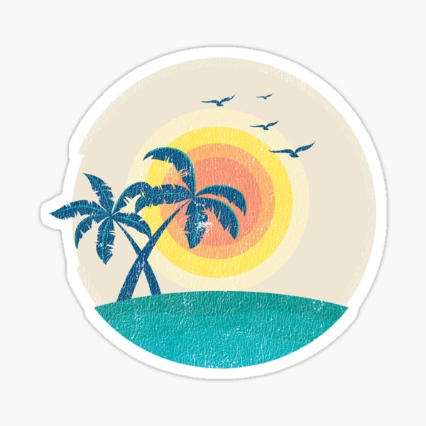 Beach Palm Trees Sticker Sticker