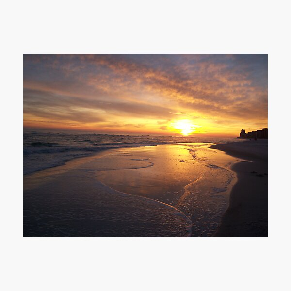 Orange Beach Sunset 1 Photographic Print