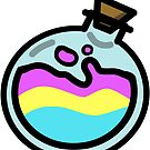 Pansexual Pride Potion Bottle by renniequeer