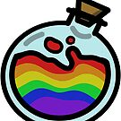 Pride Potion Bottle by renniequeer