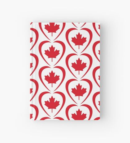 Canadian Patriot Flag Series (Heart) Hardcover Journal