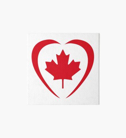 Canadian Patriot Flag Series (Heart) Art Board Print