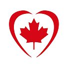 Canadian Patriot Flag Series (Heart) by Carbon-Fibre Media